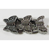 Jewelry findings, CCB Plastic Beads, Plumbum black, Butterfly 6x8mm Hole:1mm, Sold by Bag