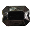 Jewelry findings, CCB Plastic Beads, Plumbum black, Faceted Polygon 17x13mm Hole:1.5mm, Sold by Bag