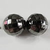 Jewelry findings, CCB Plastic Beads, Plumbum black, Faceted Round 10mm Hole:2mm, Sold by Bag