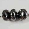 Jewelry findings, CCB Plastic Beads, Plumbum black, Rondelle 10x5mm Hole:2mm, Sold by Bag