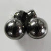 Jewelry findings, CCB Plastic Pendants, Plumbum black, 8x11mm Hole:2.5mm, Sold by Bag
