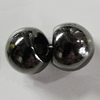 Jewelry findings, CCB Plastic Pendants, Plumbum black, 11mm Hole:3.5mm, Sold by Bag