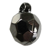 Jewelry findings, CCB Plastic Pendants, Plumbum black, 13x19mm Hole:3.5mm, Sold by Bag