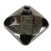Jewelry findings, CCB Plastic Pendants, Plumbum black, Diamond 19x19mm Hole:2.5mm, Sold by Bag