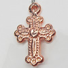 Jewelry findings, CCB Plastic Pendants, Original, Cross 13x20mm Hole:2mm, Sold by Bag
