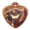 Jewelry findings, CCB Plastic Pendants, Original, Heart 19x22mm, Sold by Bag