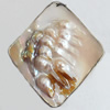 Shell Pendant, Diamond, 60x70mm, Sold by PC