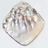 Shell Pendant, Diamond, 60x68mm, Sold by PC