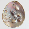 Shell Pendant, 50x62mm, Sold by PC