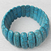 Turquoise Bracelet,24mm, Length Approx:7.1-inch, Sold by Strand