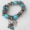 Turquoise Bracelet,18mm, Length Approx:7.1-inch, Sold by Strand