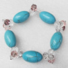 Turquoise Bracelet,15mm, Length Approx:7.1-inch, Sold by Strand