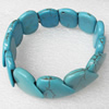 Turquoise Bracelet,20mm, Length Approx:7.1-inch, Sold by Strand