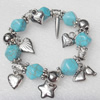 Turquoise Bracelet,12mm, Length Approx:7.1-inch, Sold by Strand