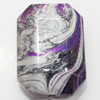 Acrylic Beads Plated AB, Polygon, 17x23mm, Sold by Bag