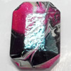Acrylic Beads Plated AB, Polygon, 21x29mm, Sold by Bag