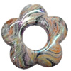 Acrylic Beads Plated AB, Flower, 30mm, Sold by Bag