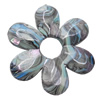 Acrylic Beads Plated AB, 40x44mm, Sold by Bag
