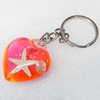 Resin Key Chain,Mix Colour, Length Approx 8.7cm, Sold by PC