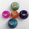 European Style Agate Beads, Mix Colour, Rondelle, 18x13mm Hole:10mm, Sold by PC