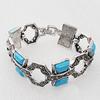 Zinc Alloy Bracelets, Bead Size:20x13mm, Sold by Dozen