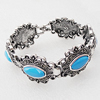 Zinc Alloy Bracelets, Bead Size:24x27mm, Sold by Dozen