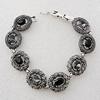 Zinc Alloy Bracelets, Bead Size:18x17mm, Sold by Dozen