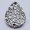 Connectors, Zinc Alloy Jewelry Findings, Teardrop 18x25mm Hole:1.5mm, Sold by Bag