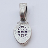 PendantBails,Fashion Zinc Alloy jewelry findings,7x16mm Hole:4.5x2.5mm, Sold by Bag