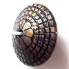 Antique Bronze Acrylic Beads, 18x10mm, Sold by Bag