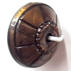 Antique Bronze Acrylic Beads, 10x15mm, Sold by Bag