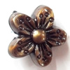 Antique Bronze Acrylic Beads, Flower, 15mm, Sold by Bag
