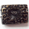 Antique Bronze Acrylic Beads, 18x13mm, Sold by Bag