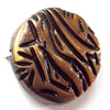Antique Bronze Acrylic Beads, 23mm, Sold by Bag