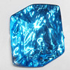 Resin Silver Foil Zircon Cabochons with Hole, 22x27mm, Sold by Bag