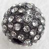 Zinc Alloy with Rhinestone Beads,10mm,Sold by PC