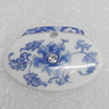 Ceramics Pendant, Flower 24x35mm, Sold by PC