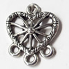 Pendant, Zinc Alloy Jewelry Findings, Heart, 15x19mm, Sold by Bag