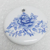 Ceramics Pendant, Flat Round 36mm, Sold by PC