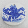 Ceramics Pendant, Flat Round 47mm, Sold by PC