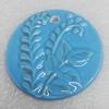 Ceramics Pendant, Flat Round 52mm, Sold by PC