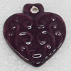 Ceramics Pendants, Heart, 35x39mm Hole:3mm, Sold by PC