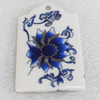 Ceramics Pendants, 35x52mm Hole:3mm, Sold by PC