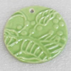 Ceramics Pendants, 50x5mm Hole:3mm, Sold by PC