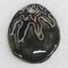 Ceramics Pendants, Teardrop, 48x58mm Hole:5mm, Sold by PC