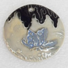 Ceramics Pendants, 57x8mm Hole:3mm, Sold by PC