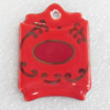Ceramics Pendants, 31x45mm Hole:3mm, Sold by PC