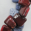 Ceramics Beads, Mix Color, Trapezia 26x31mm, Sold by Bag