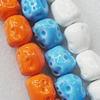 Ceramics Beads, Mix Color, Nugget 20x22mm, Sold by Bag