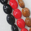 Ceramics Beads, Mix Color, Flat Oval 13x16mm, Sold by Bag